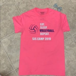 Eat sleep volleyball repeat - ladies size small